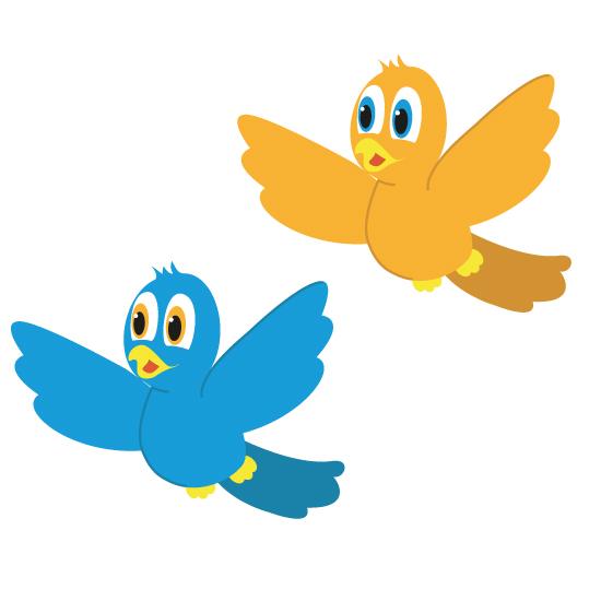 Mascottes oiseau bleu jaune Agence Topaz Communication Cluny Saône-et-Loire 71 Bourgogne