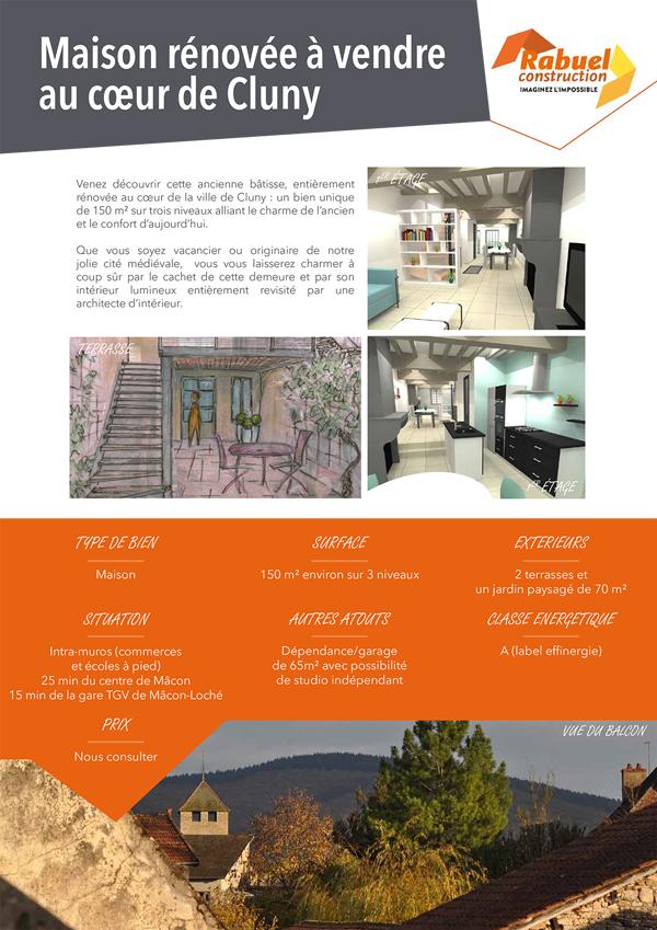 plaquette maison à vendre rabuel construction portfolio Agence Topaz Communication