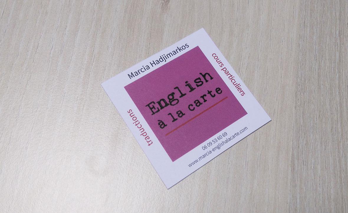 portfolio marcia cartes de visites