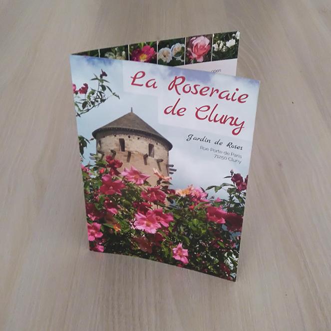 roseraie cluny depliant